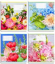 Набор тетрадей 5 штуки Полиграфист Цветы A5 в клетку 96 листов 96K 424