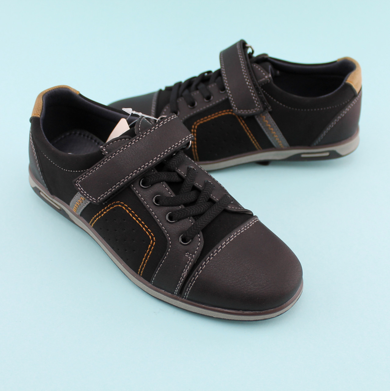 Туфли для мальчика Черные тм Том.М размер 34,35,36