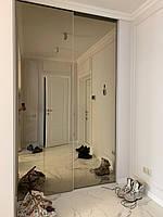 Шкаф купе белый с зеркалом бронза, фото 1