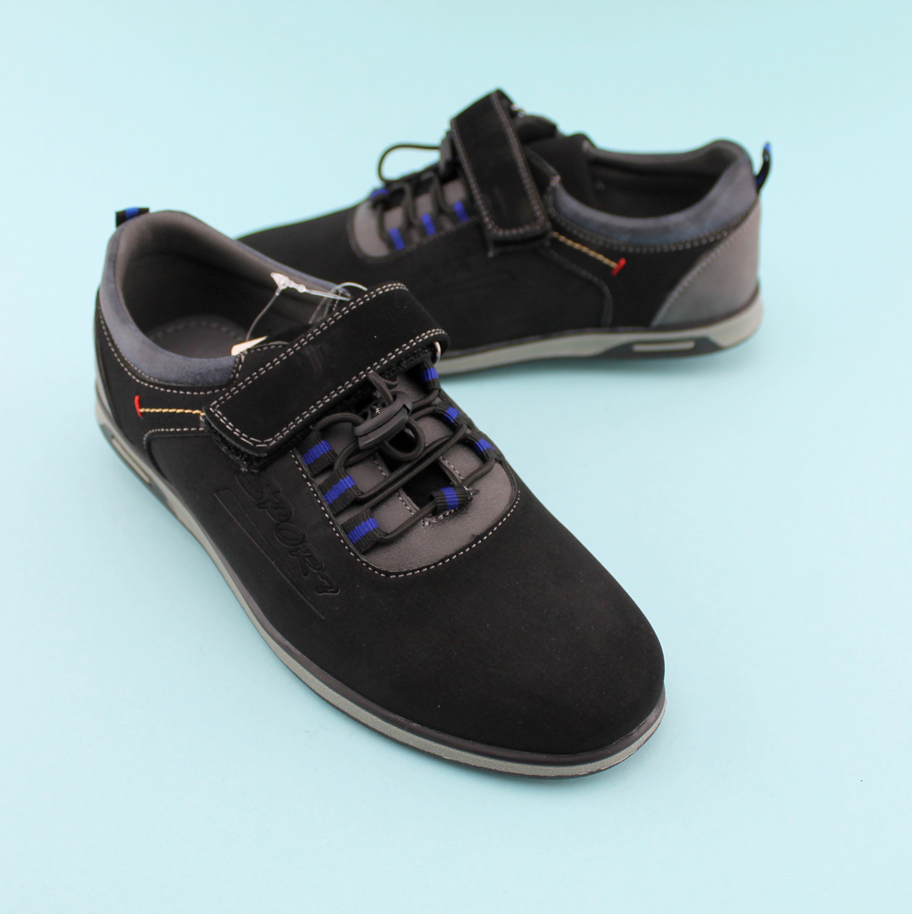 Черные туфли для мальчика тм Том.М размер 35,36