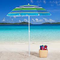 Пляжный Складной Наклонный Солнцезащитный Зонт 220 см Зонтик