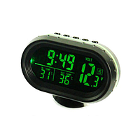 Часы термометр вольтметр автомобильные VST-7009V, фото 1