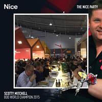 Чемпион мира по дартсу Митчелл «Скотти Дог», спонсором которого является Nice, выступил на канале BBC