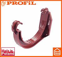 Водосточная пластиковая система PROFIL 90/75 (ПРОФИЛ ВОДОСТОК). Держатель желоба пластик, красный