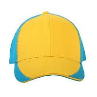 """Бейсболка """"Патриот"""" 1120 UA CO (желто-голубая)"""