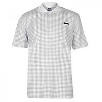 Поло Slazenger Check Golf Polo White - Оригинал, фото 1