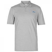 Поло Slazenger Micro Stripe Golf Polo Grey - Оригинал