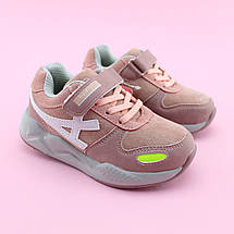 Детские кроссовки девочке Пудра тм Том.М размер 27,28,29,30,31,32, фото 3