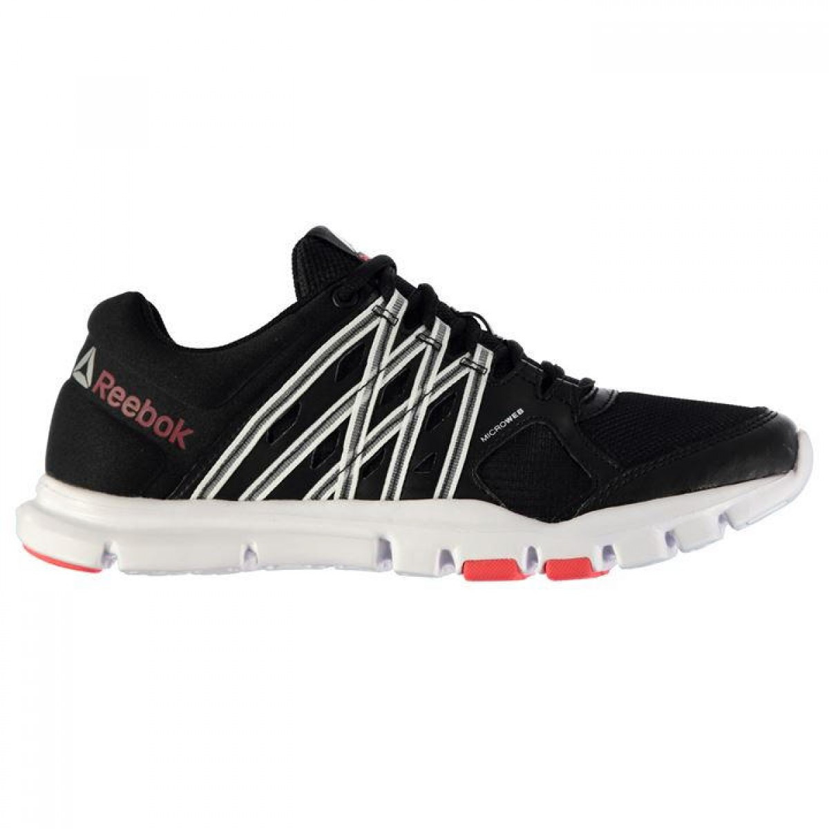 Кроссовки Reebok YourflexTrain Ladies Blk/Wht/Cherry - Оригинал, фото 1