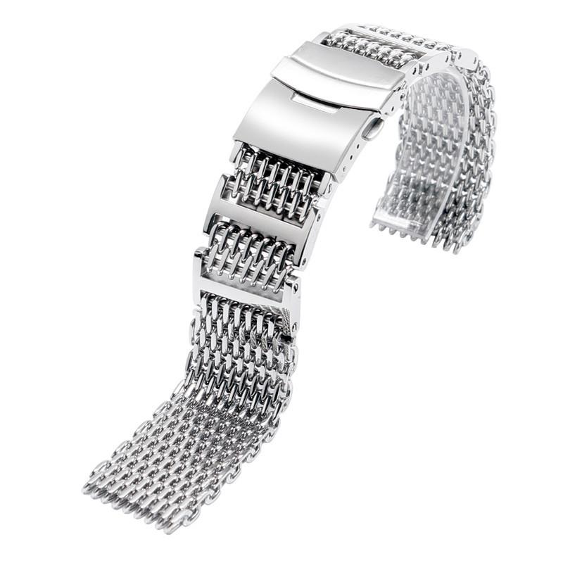 Браслет для годинника з нержавіючої сталі 316L, міланське плетіння. 24 мм