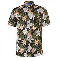 Рубашка Pierre Cardin Tropical Short Sleeve Blk/Grn/Off Wht - Оригинал