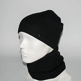 Мужской комплект шапка + бафф (код 00379)