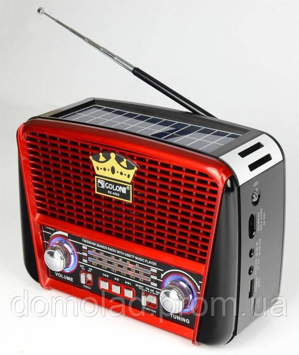 Радиоприемник Golon RX-455 Solar c Фонариком и Солнечной Панелью MP3 USB FM SD