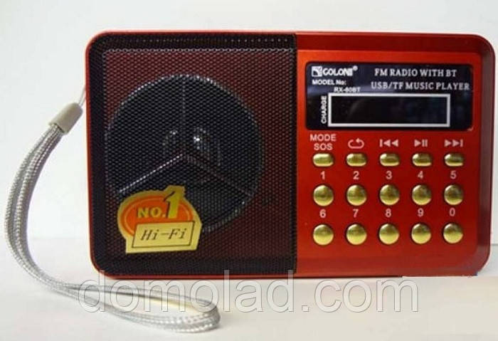 Радиоприемник Golon RX-60 BT c Фонариком Bluetooth MP3 USB FM SD am