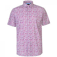 Рубашка Pierre Cardin Ditsy Short Sleeve Pink - Оригинал