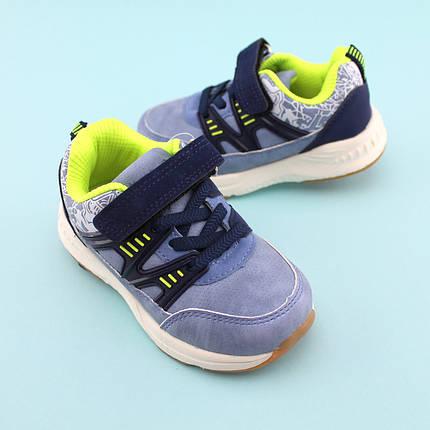 Голубые кроссовки на мальчика тм Том.М размер 21,22,23,24,25,26, фото 2