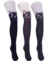 Детские колготки с кошкой 116-122, 128-134 размер