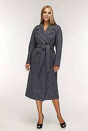 Классическое женское демисезонное пальто с поясом 1194 ( 44–54р) в расцветках