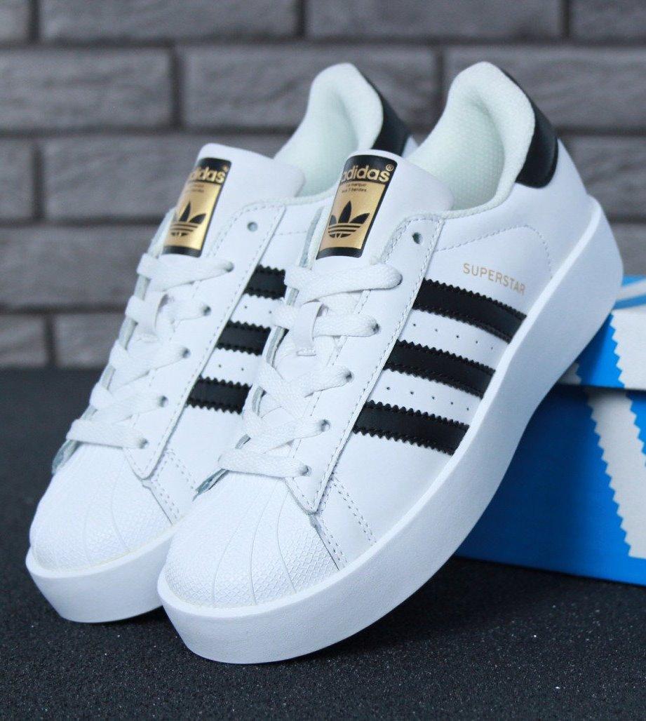 Женские кроссовки Adidas Superstar Bold White