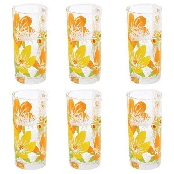 Набор стаканов Luminarc Aime Pop Flowers Orange 270 мл 6 шт H8018