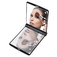 Стильное Складное Косметическое Зеркало с LED-Подсветкой Led Light Make-up Mirror Компактное Зеркало, фото 1