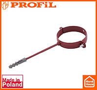 Водосточная пластиковая система PROFIL 130/100 (ПРОФИЛ ВОДОСТОК). Держатель трубы метал L160 , красный