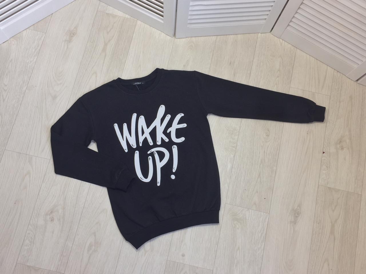 Свитшот, женский двунить Турция Wake up