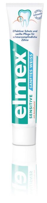 Elmex Sensitive Weiss отбеливающая зубная паста для чувствительных зубов ― 75мл Gaba Германия