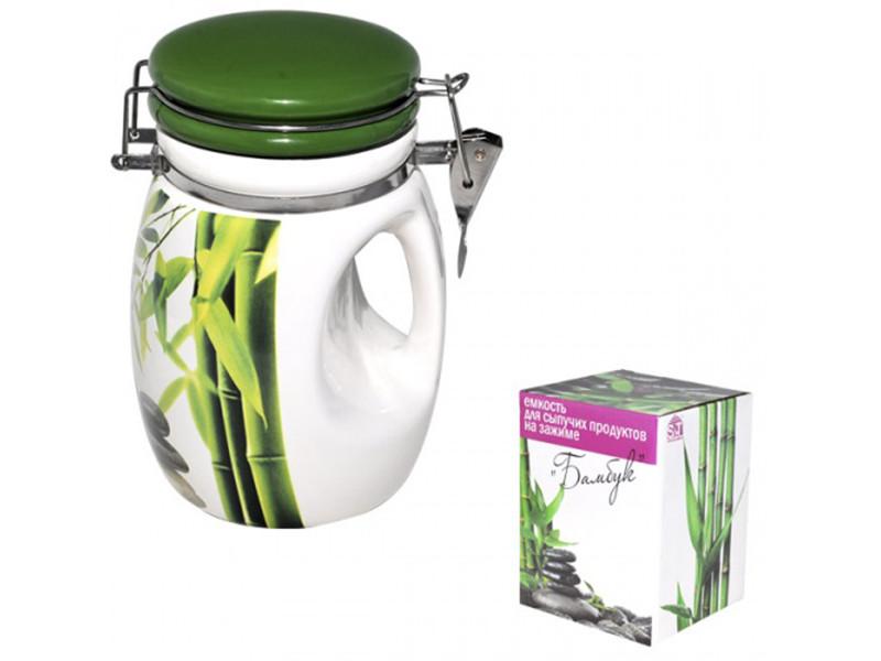 Емкость для сыпучих S&T Зеленый бамбук 840 мл 6171