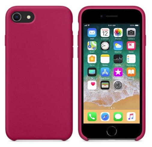 Силиконовый чехол накладка с оригинальным логотипом Apple Silicone Case для iPhone 6 Plus / 6s Plus Rose Red