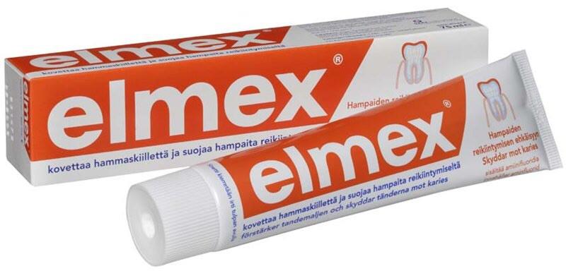 Elmex mentholfrei зубная паста от кариеса ― 75мл Gaba Германия
