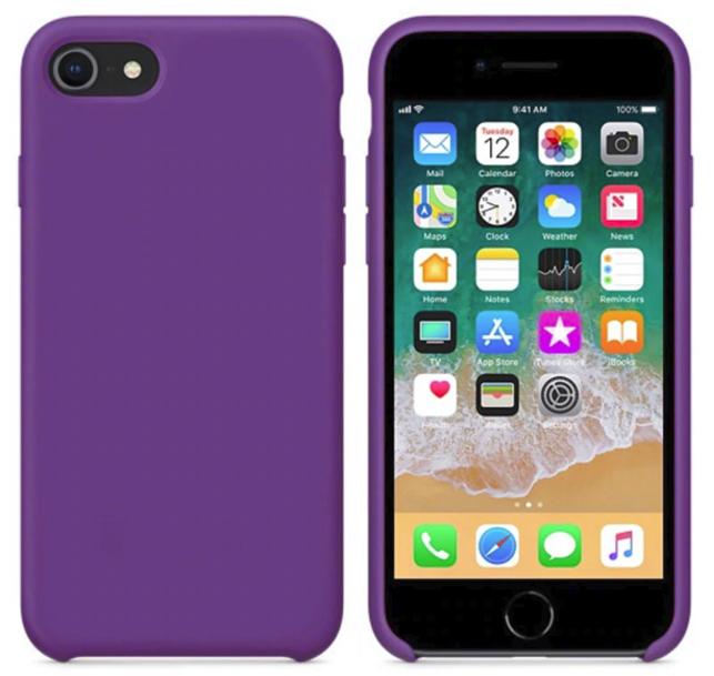 Силиконовый чехол накладка с оригинальным логотипом Apple Silicone Case iPhone 7/8 Plus Ultra Violet Фиолет