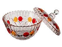 Конфетница Interos Самоцветы с крышкой 22 см 510-1, фото 1