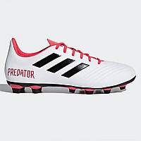 Бутсы adidas Predator 18.4 FG White/Blk/Coral - Оригинал
