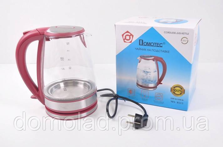 Электрический Стеклянный Чайник MS 8113 Электрочайник