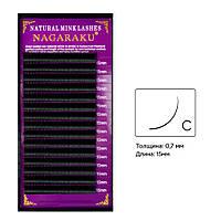Ресницы изгиб С 0.07 (16 рядов: 15мм) Nagaraku