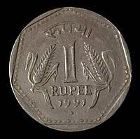 Монета Индии 1 рупии 1991 г.