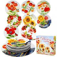 30838 Набір для торта 8пр Квіти