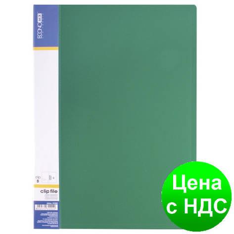Папка А4 с боковим прижимом Economix CLIP В Light , зеленая E31208-04, фото 2