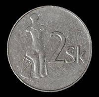 Монета Словакии 2 кроны 1993 г.