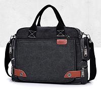 Стильная мужская сумка с ручками черный