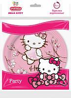 Тарелки 18см 6шт бумажные Hello Kitty Eventa