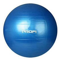 Фитбол 55 см + насос (Фиолетовый), фото 3