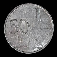Монета Словакии 50 геллеров 1993 г.