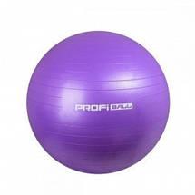 Фитбол Profi Ball 55 см + насос (MS 1539G) Серый перламутр, фото 3