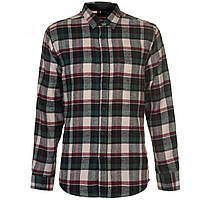 Рубашка Pierre Cardin Flannel Blk/Wht/Bur/Grn - Оригинал