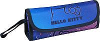 Пенал 653 Hello Kitty мягкий Kite (синий), 1 отделение и органайзер