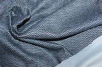 Ткань Ангора софт принт , пог. м., №1337 (мелкая елочка , цвет т. синий), фото 1