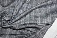 Ткань Ангора софт принт , пог. м., №1342 (т серая полоса), фото 1