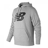 Худи New Balance Large Logo Hood Sn00 Grey - Оригинал